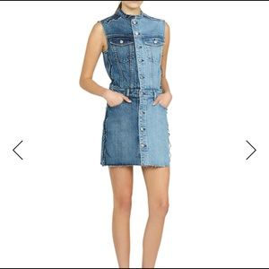 HUDSON DIY Two-Tone Sleeveless Denim Dress